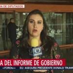 FOTO: No hubo desfile de legisladores en el vestíbulo de San Lázaro, 1 septiembre 2019