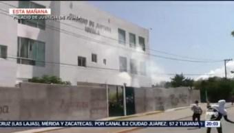 Foto: Normalistas Vandalizan Palacio Justicia Iguala 43 Desaparecidos Hoy 23 Septiembre 2019