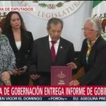 FOTO: Olga Sánchez Cordero entrega al Congreso Informe de AMLO, 1 septiembre 2019