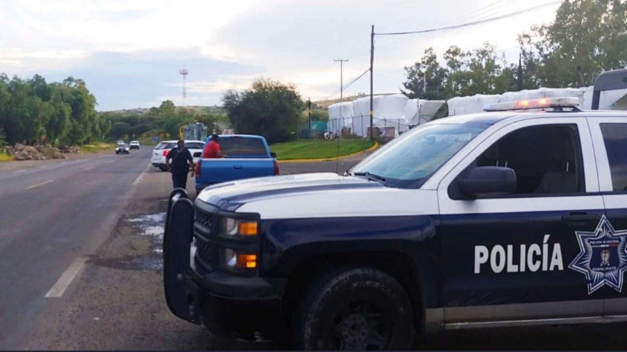 Operativo de seguridad en Guanajuato.