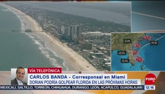 "Ordenan evacuación de zonas costeras de Florida por huracán ""Dorian"""