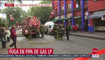 Foto: Fuga de Gas en Pipa en Coyoacán 24 Septiembre 2019