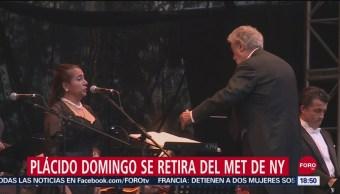 Foto: Plácido Domingo Retira Met Nueva York 24 Septiembre 2019