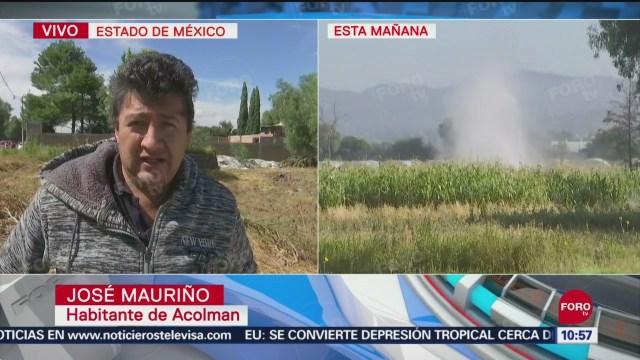 FOTO: Pobladores de Acolman narran como ocurrió fuga de combustible, 15 Septiembre 2019