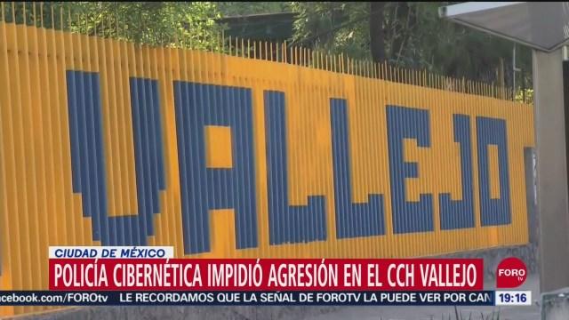 Foto: Policía Cibernética Impidió Matanza Cch Vallejo 11 Septiembre 2019