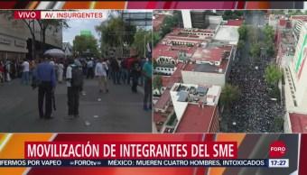 FOTO:Policía de la CDMX forma circulo de seguridad entre grupos del SME, 27 septiembre 2019