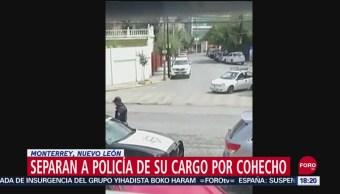 FOTO: Policía Monterrey Recibe Mordida Automovilista Es Cesado
