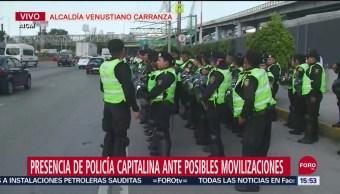 FOTO: Policías CDMX Resguardan Inmediaciones AICM