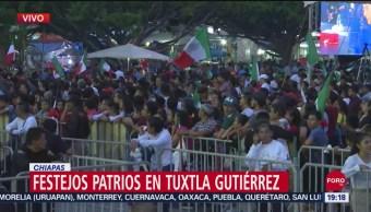 FOTO: Preparativos del Grito de Independencia en Tuxtla Gutiérrez, 15 Septiembre 2019