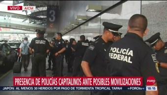 FOTO: Presencia Policías SSC-CDMX Causas Caos Vial AICM