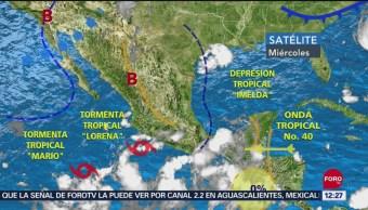 Prevén evolución de 'Lorena' a huracán categoría 1