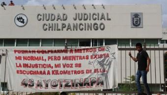 Protesta en Ciudad Judicial en Chilpancingo