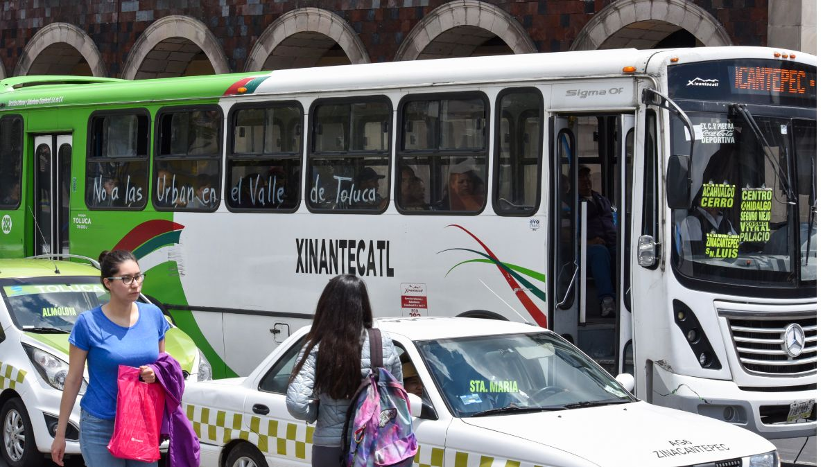 Protesta en Toluca
