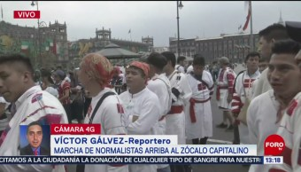 FOTO: Protestan Normalistas Chiapas Zócalo Capitalino