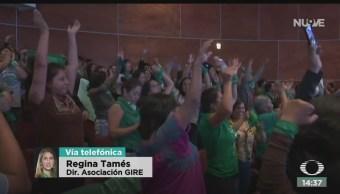 FOTO: Regina Tamés Habla Despenalización Aborto Oaxaca