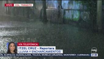 Foto: Encharcamientos Lluvia Cdmx Hoy Miércoles 18 Septiembre 2019