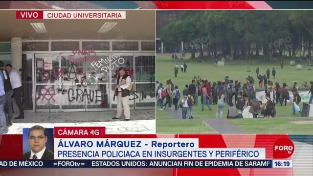 FOTO: Reportan Presencia Policías Insurgentes Tras Protesta Violenta Rectoría