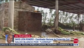 Reportan saldo blanco en el país tras el paso del huracán 'Lorena'