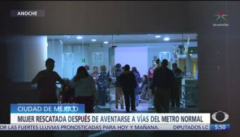Rescatan a mujer que se arrojó a vías del Metro Normal