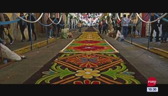 Retratos de México: Elaboración de tapetes