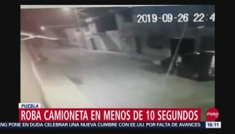 FOTO: Roban camioneta en 10 segundos, 27 septiembre 2019