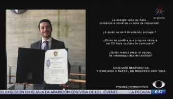 Roban videos de edificio donde desapareció el joven Rafa, en Guadalajara
