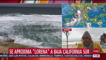 Se aproxima 'Lorena' a costas de Baja California Sur