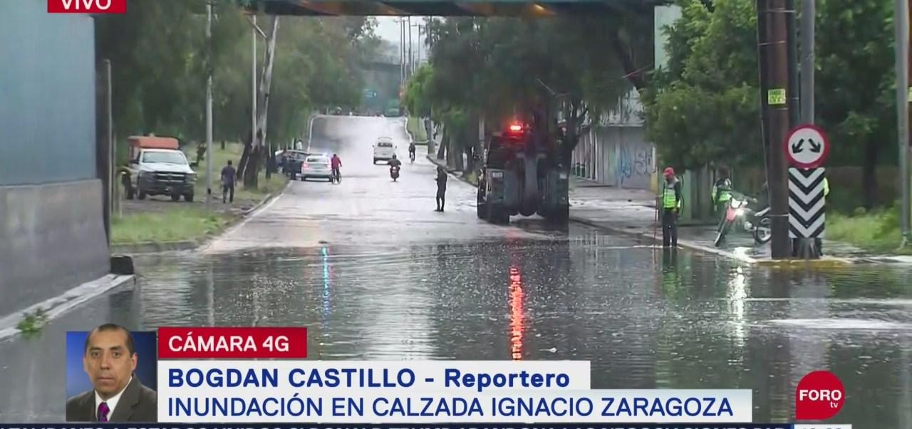 Foto: Registran Afectaciones Viales Inundaciones Iztapalapa Hoy 10 Septiembre 2019