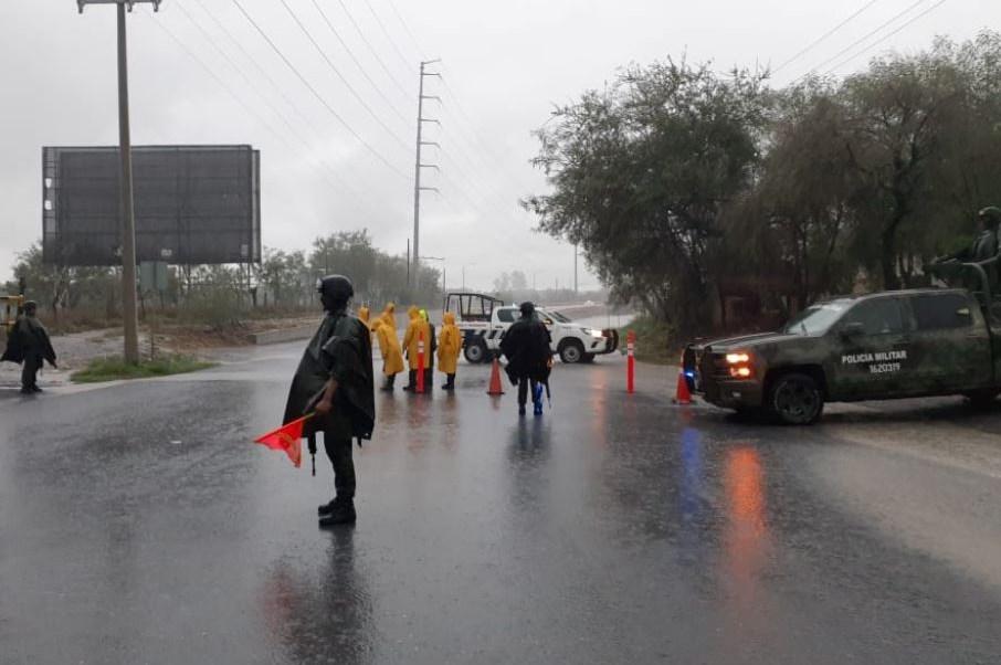 Ejército aplica Plan DN-III-E por lluvias en Nuevo León.