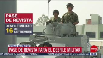 FOTO: Sedena Guardia Nacional realizan pase revista para desfile militar