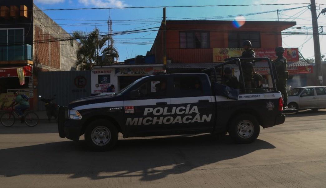 Operativo de seguridad en Michoacán