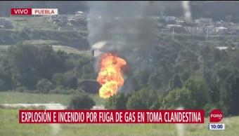 FOTO: Seis heridos por explosión de fuga de gas en San Lorenzo Almecatla, Puebla, 16 septiembre 2019