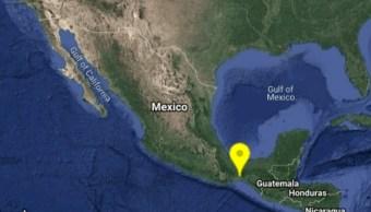 Foto: Mapa de sismo en Oaxaca, septiembre de 2019