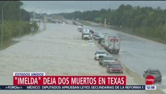 Suman 2 muertos por la tormenta tropical 'Imelda' en Texas