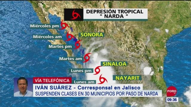 FOTO: Suspenden clases 30 municipios Jalisco por paso Narda