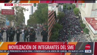 FOTO:Suspenden marcha del SME, tras enfrentamiento, 27 septiembre 2019