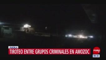 Tiroteo entre grupos criminales en Amozoc, Puebla