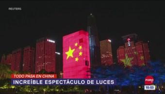 Todo Pasa En China: Increíble espectáculo de luces