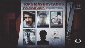 Foto: Top 5 Delincuentes Mas Bucados Polanco CDMX 20 Septiembre 2019