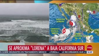 Tormenta 'Mario' se aproxima a Península de Baja California