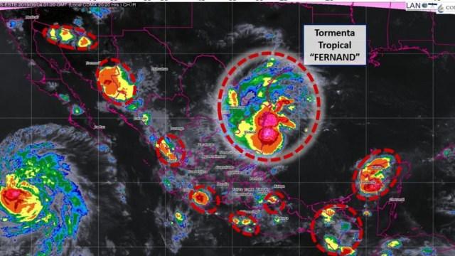 Hay alerta máxima en Tamaulipas por la llegada 'Fernand'