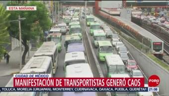 Foto: Trasportistas Exigen Aumento Tarifa Provocan Caos Vial Cdmx 3 Septiembre 2019