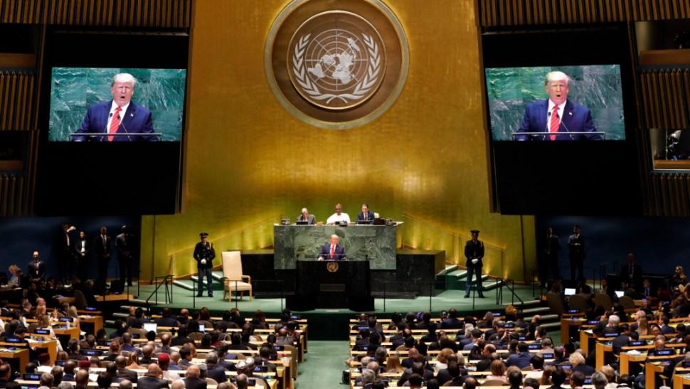 FOTO Donald Trump en la Asamblea General dela ONU (AP)