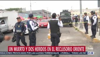 Foto: Muerto Heridos Enfrentamiento Reclusorio Oriente 12 Septiembre 2019