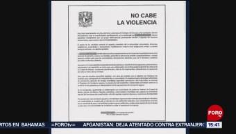 FOTO: UNAM Pronuncia Por Violencia Ciudad Universitaria,