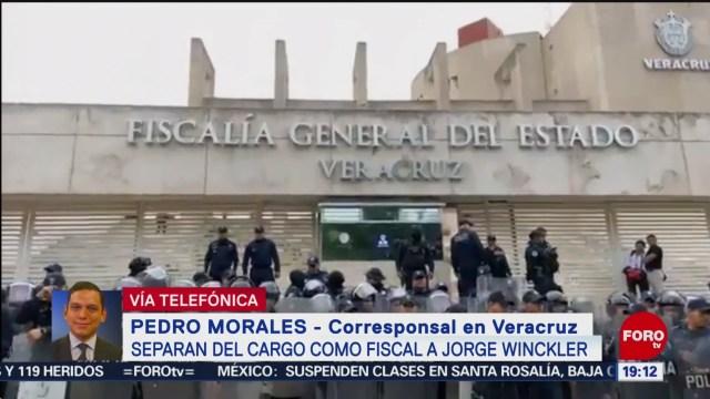Foto: Verónica Hernández Encargada Despacho Fiscalía Veracruz 3 Septiembre 2019