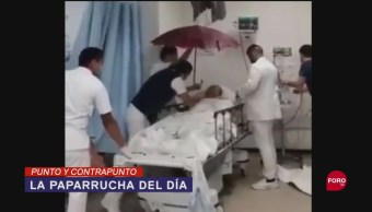 Foto: Video Derrumbe Techo Hospital Paparrucha Del Día Paraguas Paciente 11 Septiembre 2019