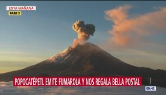 FOTO: Volcán Popocatépetl emite 113 exhalaciones acompañadas de vapor, 16 septiembre 2019