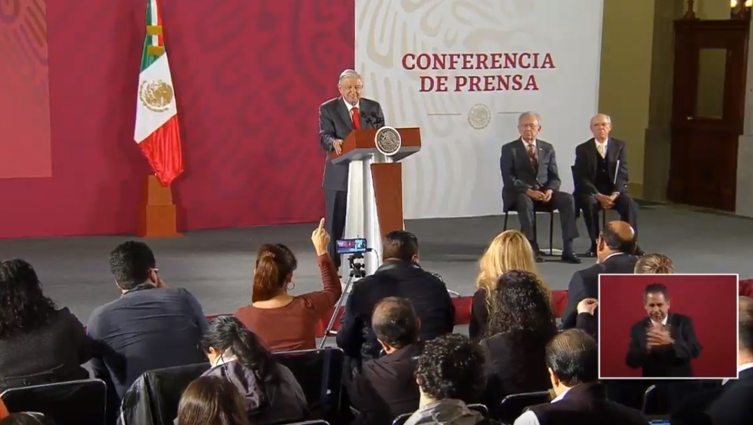 Foto: López Obrador en conferencia de prensa, 8 de octubre de 2019, Ciudad de México