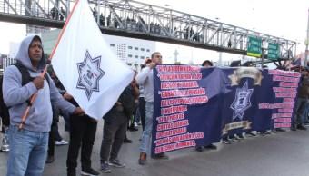 Foto: Los policías federales inconformes exigen respeto a sus derechos laborales, 04 de octubre de 2019 (FOTO: ROGELIO MORALES /CUARTOSCURO.COM)